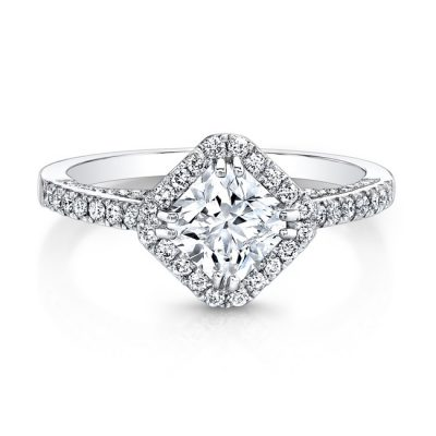 18K WHITE GOLD DIAMOND SHAPED HALO ENGAGEMENT RING FM26979 18W 400x400 - 18K WHITE GOLD DIAMOND SHAPED HALO ENGAGEMENT RING FM26979-18W