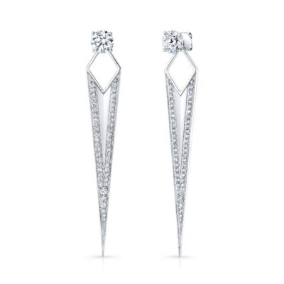 18K WHITE GOLD DIAMOND SPIKE EARRINGS FM30293 18W 400x400 - 18K WHITE GOLD DIAMOND SPIKE EARRINGS FM30293-18W