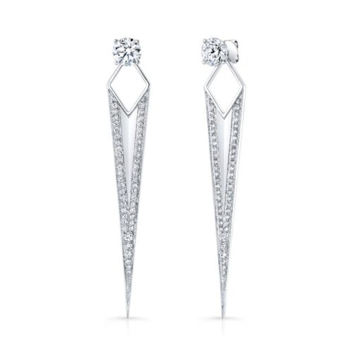 18K WHITE GOLD DIAMOND SPIKE EARRINGS FM30293 18W 500x499 - 18K WHITE GOLD DIAMOND SPIKE EARRINGS FM30293-18W