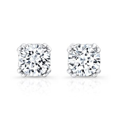 18K WHITE GOLD DIAMOND STUD EARRINGS FM27548 18W 400x400 - 18K WHITE GOLD DIAMOND STUD EARRINGS FM27548-18W