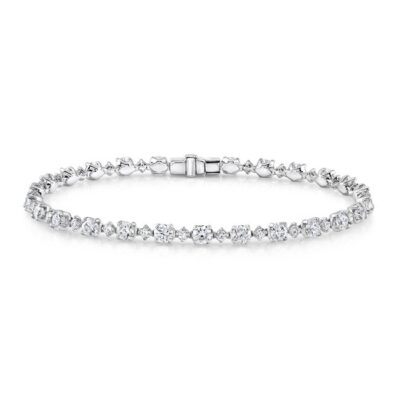 18K WHITE GOLD DIAMOND TENNIS BRACELET FM29031 18W 400x400 - 18K WHITE GOLD DIAMOND TENNIS BRACELET FM29031-18W
