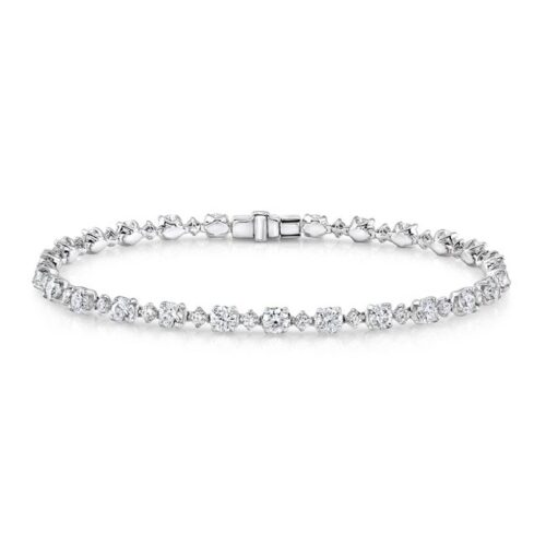 18K WHITE GOLD DIAMOND TENNIS BRACELET FM29031 18W 500x500 - 18K WHITE GOLD DIAMOND TENNIS BRACELET FM29031-18W