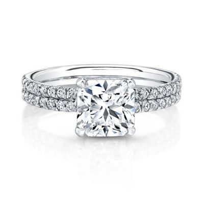 18K WHITE GOLD DOUBLE DIAMOND BAND ENGAGEMENT RING FM26721 18W 400x400 - 18K WHITE GOLD DOUBLE DIAMOND BAND ENGAGEMENT RING FM26721-18W