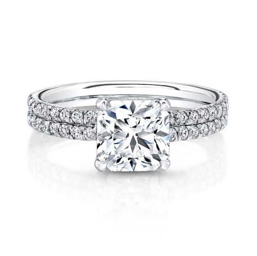 18K WHITE GOLD DOUBLE DIAMOND BAND ENGAGEMENT RING FM26721 18W 500x499 - 18K WHITE GOLD DOUBLE DIAMOND BAND ENGAGEMENT RING FM26721-18W
