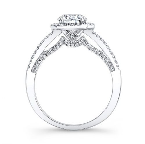18K WHITE GOLD DOUBLE PITCH GALLERY DIAMOND HALO ENGAGEMENT RING FM27026 18W 1 500x499 - 18K WHITE GOLD DOUBLE PITCH GALLERY DIAMOND HALO ENGAGEMENT RING FM27026-18W