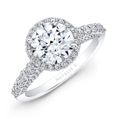 18K WHITE GOLD ELONGATED SHANK DIAMOND HALO ENGAGEMENT RING NK28659 18W 400x400 - 18K WHITE GOLD ELONGATED SHANK DIAMOND HALO ENGAGEMENT RING NK28659-18W