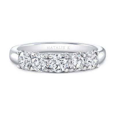 18K WHITE GOLD FIVE DIAMOND FASHION BAND FM29032 18W 400x400 - 18K WHITE GOLD FIVE DIAMOND FASHION BAND FM29032-18W