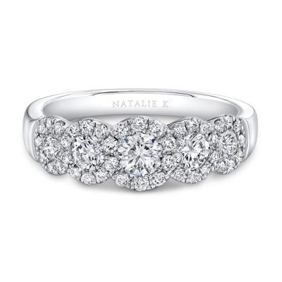 18K WHITE GOLD FIVE DIAMOND HALO BAND FM29026 18W 400x400 - 18K WHITE GOLD FIVE DIAMOND HALO BAND FM29026-18W
