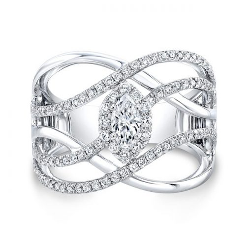 18K WHITE GOLD FOREVERMARK® DIAMOND BAND FM33254 18W 500x500 - 18K WHITE GOLD FOREVERMARK® DIAMOND BAND FM33254-18W