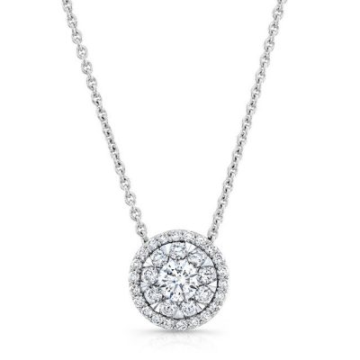 18K WHITE GOLD FOREVERMARK® DIAMOND CLUSTER NECKLACE FM33320 18W 400x400 - 18K WHITE GOLD FOREVERMARK® DIAMOND CLUSTER NECKLACE FM33320-18W