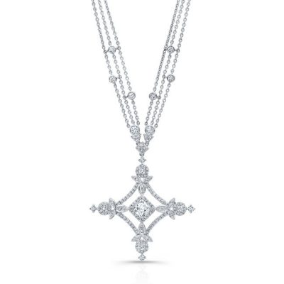 18K WHITE GOLD FOREVERMARK® DIAMOND CROSS NECKLACE FM32351 18W 400x400 - 18K WHITE GOLD FOREVERMARK® DIAMOND CROSS NECKLACE FM32351-18W