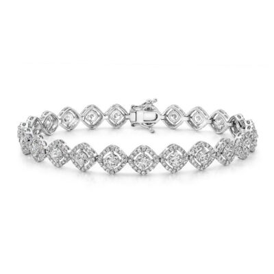 18K WHITE GOLD FOREVERMARK® DIAMOND DIAGONAL TENNIS BRACELET FM29389 18W 400x400 - 18K WHITE GOLD FOREVERMARK® DIAMOND DIAGONAL TENNIS BRACELET FM29389-18W