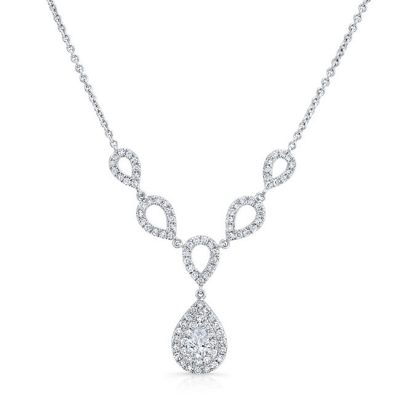18K WHITE GOLD FOREVERMARK® DIAMOND NECKLACE FM33080 18W 400x400 - 18K WHITE GOLD FOREVERMARK® DIAMOND NECKLACE FM33080-18W