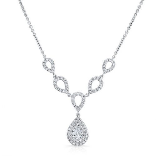 18K WHITE GOLD FOREVERMARK® DIAMOND NECKLACE FM33080 18W 500x499 - 18K WHITE GOLD FOREVERMARK® DIAMOND NECKLACE FM33080-18W