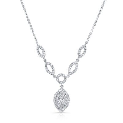 18K WHITE GOLD FOREVERMARK® DIAMOND NECKLACE FM33081 18W 400x400 - 18K WHITE GOLD FOREVERMARK® DIAMOND NECKLACE FM33081-18W