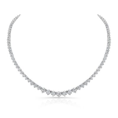 18K WHITE GOLD FOREVERMARK® DIAMOND RIVIERA TENNIS NECKLACE FM31217 18W 400x400 - 18K WHITE GOLD FOREVERMARK® DIAMOND RIVIERA TENNIS NECKLACE FM31217-18W