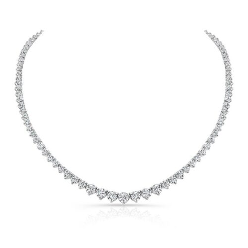 18K WHITE GOLD FOREVERMARK® DIAMOND RIVIERA TENNIS NECKLACE FM31217 18W 500x500 - 18K WHITE GOLD FOREVERMARK® DIAMOND RIVIERA TENNIS NECKLACE FM31217-18W