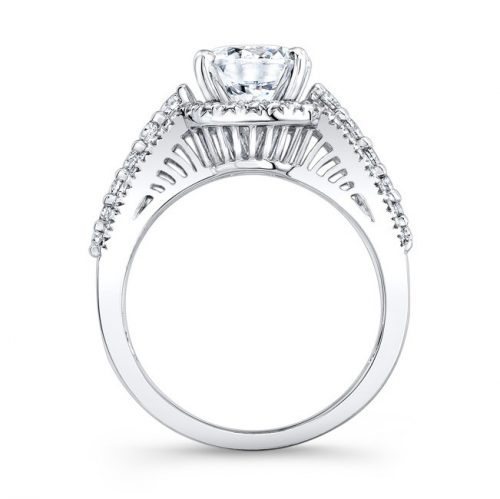 18K WHITE GOLD HALO INSPIRED PAVE AND PRONG DIAMOND ENGAGEMENT RING NK25875 18W 1 500x499 - 18K WHITE GOLD HALO INSPIRED PAVE AND PRONG DIAMOND ENGAGEMENT RING NK25875-18W