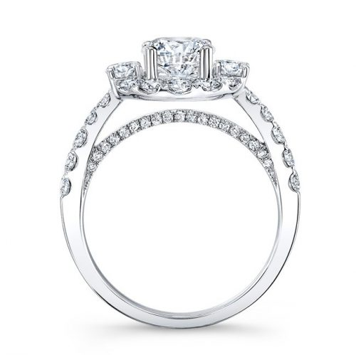 18K WHITE GOLD LARGE DIAMOND HALO ENGAGEMENT RING NK31147 18W 1 500x499 - 18K WHITE GOLD LARGE DIAMOND HALO ENGAGEMENT RING NK31147-18W