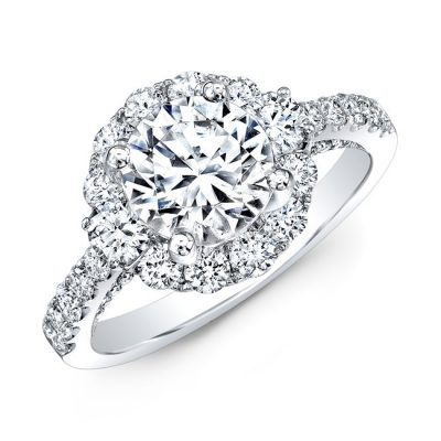 18K WHITE GOLD LARGE DIAMOND HALO ENGAGEMENT RING NK31147 18W 400x400 - 18K WHITE GOLD LARGE DIAMOND HALO ENGAGEMENT RING NK31147-18W