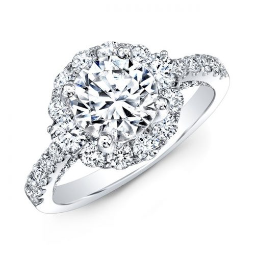 18K WHITE GOLD LARGE DIAMOND HALO ENGAGEMENT RING NK31147 18W 500x500 - 18K WHITE GOLD LARGE DIAMOND HALO ENGAGEMENT RING NK31147-18W