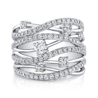 18K WHITE GOLD MULTIBAND DIAMOND FASHION BAND FM28917 18W 400x400 - 18K WHITE GOLD MULTIBAND DIAMOND FASHION BAND FM28917-18W