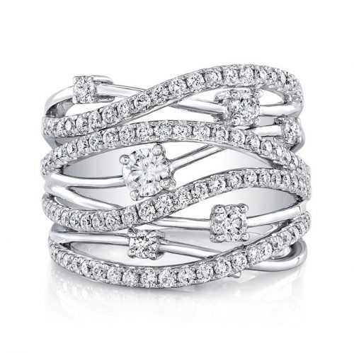 18K WHITE GOLD MULTIBAND DIAMOND FASHION BAND FM28917 18W 500x499 - 18K WHITE GOLD MULTIBAND DIAMOND FASHION BAND FM28917-18W