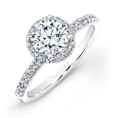 18K WHITE GOLD PAVE HALO DIAMOND ENGAGEMENT RING 400x400 - 18K WHITE GOLD PAVE HALO DIAMOND ENGAGEMENT RING
