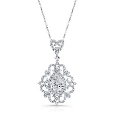 18K WHITE GOLD PEARSHAPED DIAMOND PENDANT FM31098 18W 400x400 - 18K WHITE GOLD PEARSHAPED DIAMOND PENDANT FM31098-18W