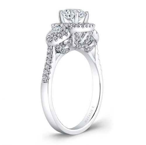 18K WHITE GOLD PEARSHAPED SIDE STONE SQUARE HALO ENGAGEMENT RING NK28594 18W 2 500x499 - 18K WHITE GOLD PEARSHAPED SIDE STONE SQUARE HALO ENGAGEMENT RING NK28594-18W