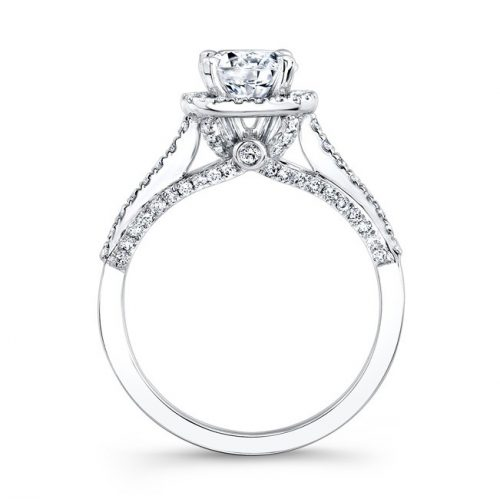 18K WHITE GOLD PRONG AND BEZEL HALO WHITE DIAMOND ENGAGEMENT RING NK25793 18W 1 500x499 - 18K WHITE GOLD PRONG AND BEZEL HALO WHITE DIAMOND ENGAGEMENT RING NK25793-18W