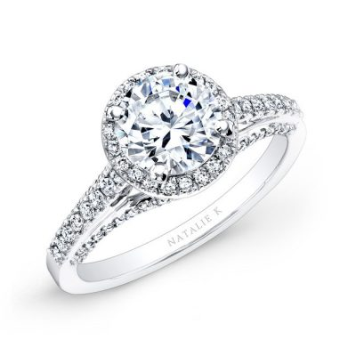 18K WHITE GOLD PRONG AND BEZEL HALO WHITE DIAMOND ENGAGEMENT RING NK25793 18W 400x400 - 18K WHITE GOLD PRONG AND BEZEL HALO WHITE DIAMOND ENGAGEMENT RING NK25793-18W