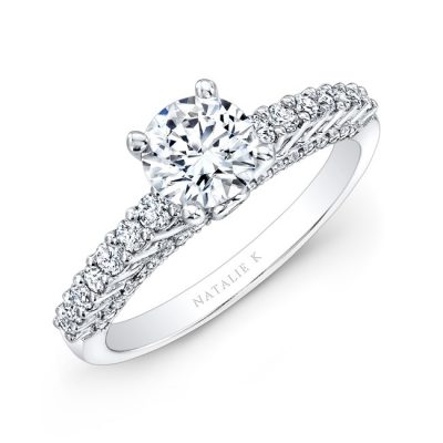 18K WHITE GOLD PRONG AND BEZEL ROUND DIAMOND ENGAGEMENT RING NK26251 18W 400x400 - 18K WHITE GOLD PRONG AND BEZEL ROUND DIAMOND ENGAGEMENT RING NK26251-18W