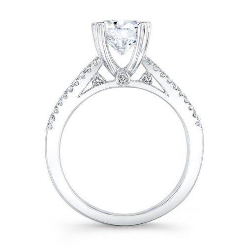 18K WHITE GOLD PRONG AND CHANNEL ROUND DIAMOND ENGAGEMENT RING NK19002 W 1 500x499 - 18K WHITE GOLD PRONG AND CHANNEL ROUND DIAMOND ENGAGEMENT RING NK19002-W