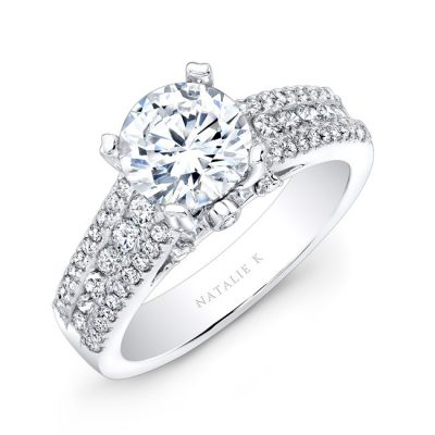 18K WHITE GOLD PRONG AND CHANNEL ROUND DIAMOND ENGAGEMENT RING NK19002 W 400x400 - 18K WHITE GOLD PRONG AND CHANNEL ROUND DIAMOND ENGAGEMENT RING NK19002-W