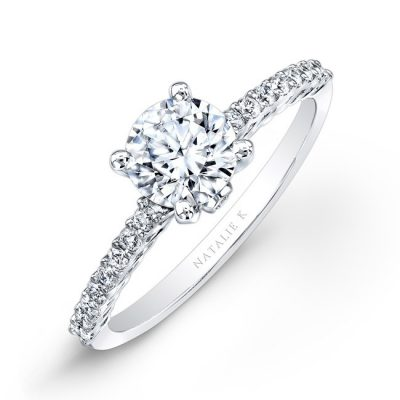 18K WHITE GOLD PRONG DIAMOND ENGAGEMENT RING NK26151 W 400x400 - 18K WHITE GOLD PRONG DIAMOND ENGAGEMENT RING NK26151-W