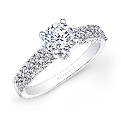 18K WHITE GOLD PRONG SET RAISED SHANK WHITE DIAMOND ENGAGEMENT RING NK26150 W 400x400 - 18K WHITE GOLD PRONG SET RAISED SHANK WHITE DIAMOND ENGAGEMENT RING NK26150-W