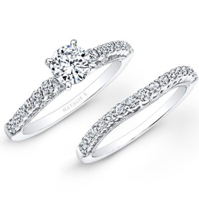 18K WHITE GOLD PRONG SET WHITE DIAMOND BRIDAL SET NK25849WE W 400x400 - 18K WHITE GOLD PRONG SET WHITE DIAMOND BRIDAL SET NK25849WE-W