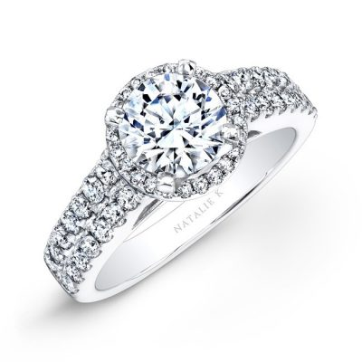 18K WHITE GOLD PRONG TWO ROW HALO WHITE DIAMOND ENGAGEMENT RING NK25876 18W 400x400 - 18K WHITE GOLD PRONG TWO ROW HALO WHITE DIAMOND ENGAGEMENT RING NK25876-18W