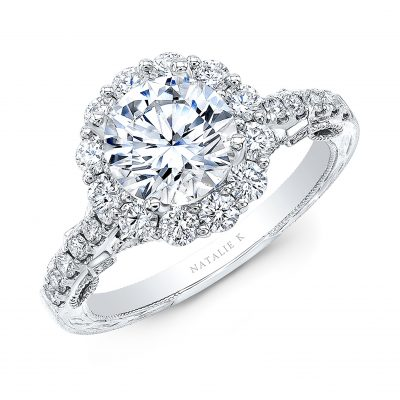 18K WHITE GOLD ROUND SHAPE HALO ENGAGEMENT RING NK35965 W 400x400 - 18K WHITE GOLD ROUND SHAPE HALO ENGAGEMENT RING NK35965-W