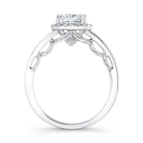 18K WHITE GOLD SCALLOPED DETAIL GALLERY DIAMOND HALO ENGAGEMENT RING FM27153 18W 2 500x499 - 18K WHITE GOLD SCALLOPED DETAIL GALLERY DIAMOND HALO ENGAGEMENT RING FM27153-18W