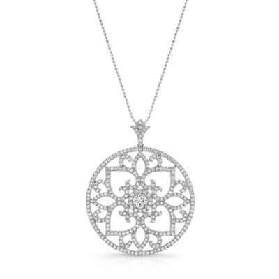 18K WHITE GOLD SCROLL WORK VINTAGE INSPIRED CIRCLE PENDANT FM29017 18W 400x400 - 18K WHITE GOLD SCROLL WORK VINTAGE INSPIRED CIRCLE PENDANT FM29017-18W