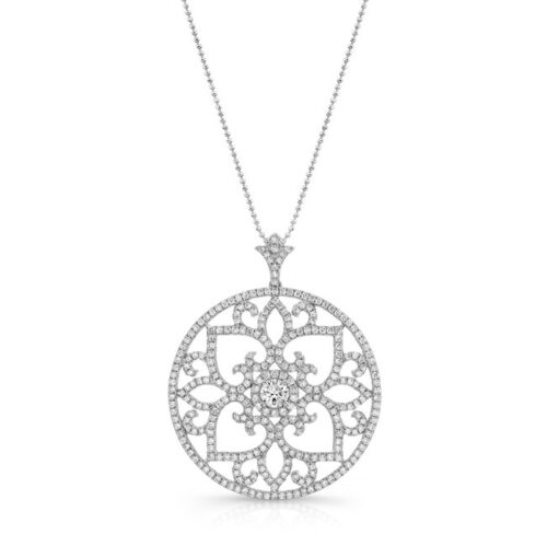 18K WHITE GOLD SCROLL WORK VINTAGE INSPIRED CIRCLE PENDANT FM29017 18W 500x499 - 18K WHITE GOLD SCROLL WORK VINTAGE INSPIRED CIRCLE PENDANT FM29017-18W