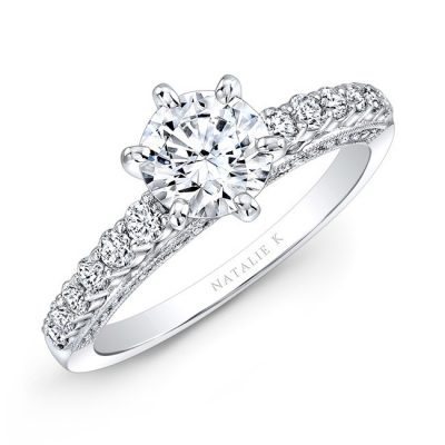 18K WHITE GOLD SIX PRONG CENTER MOUNTING DIAMOND GALLERY ENGAGEMENT RING NK27715 18W 400x400 - 18K WHITE GOLD SIX PRONG CENTER MOUNTING DIAMOND GALLERY ENGAGEMENT RING NK27715-18W