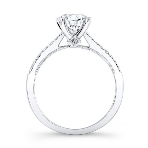 18K WHITE GOLD SPLIT PRONG CENTER MOUNTING MILGRAIN GALLERY ENGAGEMENT RING FM26951 18W 1 500x499 - 18K WHITE GOLD SPLIT PRONG CENTER MOUNTING MILGRAIN GALLERY ENGAGEMENT RING FM26951-18W