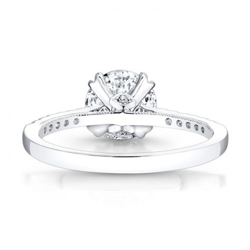 18K WHITE GOLD SPLIT PRONG CENTER MOUNTING MILGRAIN GALLERY ENGAGEMENT RING FM26951 18W 2 500x500 - 18K WHITE GOLD SPLIT PRONG CENTER MOUNTING MILGRAIN GALLERY ENGAGEMENT RING FM26951-18W