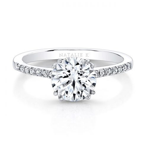 18K WHITE GOLD SPLIT PRONG CENTER MOUNTING MILGRAIN GALLERY ENGAGEMENT RING FM26951 18W 500x500 - 18K WHITE GOLD SPLIT PRONG CENTER MOUNTING MILGRAIN GALLERY ENGAGEMENT RING FM26951-18W