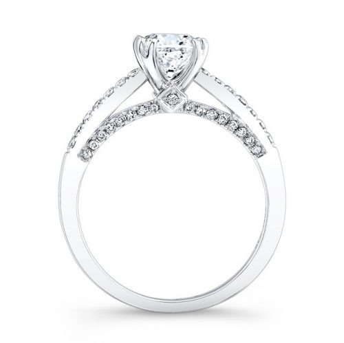 18K WHITE GOLD SPLIT PRONG DIAMOND BAND AND GALLERY ENGAGEMENT RING FM26917 18W 1 500x499 - 18K WHITE GOLD SPLIT PRONG DIAMOND BAND AND GALLERY ENGAGEMENT RING FM26917-18W