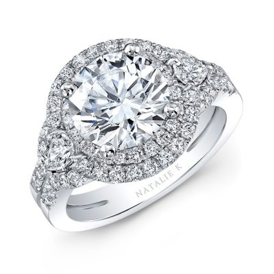 18K WHITE GOLD SPLIT SHANK DOUBLE HALO DIAMOND ENGAGEMENT RING NK31357 18W 400x400 - 18K WHITE GOLD SPLIT SHANK DOUBLE HALO DIAMOND ENGAGEMENT RING NK31357-18W