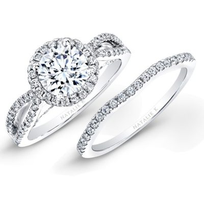 18K WHITE GOLD SPLIT SHANK HALO DIAMOND BRIDAL SET NK26237WE W 400x400 - 18K WHITE GOLD SPLIT SHANK HALO DIAMOND BRIDAL SET NK26237WE-W